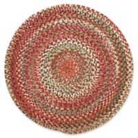 Capel Rugs Ocracoke Braided 5'6 Round Accent Rug in Pink