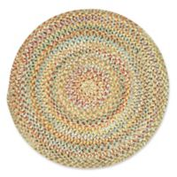 Capel Rugs Ocracoke Braided 5'6 Round Accent Rug in Amber