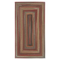 Capel Rugs Portland Braided 1'8 x 2'6 Accent Rug in Brown
