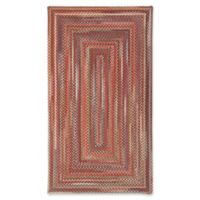 Capel Rugs Portland Braided 1'8 x 2'6 Accent Rug in Red