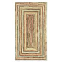 Capel Rugs Portland Braided 1'8 x 2'6 Accent Rug in Gold