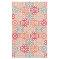 Surya Shiloh Geometric 2' x 3' Accent Rug in Bright Pink