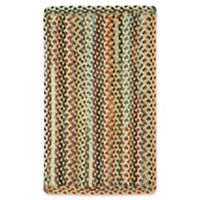 Capel Rugs St. Johnsbury Hand-Braided 1'8 x 2'6 Accent Rug in Wheat
