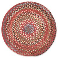 Capel Rugs St. Johnsbury Hand-Braided 5'6 Round Accent Rug in Medium Red