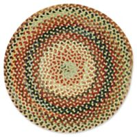 Capel Rugs St. Johnsbury Hand-Braided 5'6 Round Accent Rug in Wheat