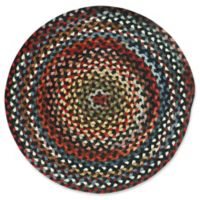 Capel Rugs St. Johnsbury Hand-Braided 5'6 Round Accent Rug in Black/Multi