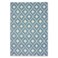 Oriental Weavers Barbados Ikat Indoor/Outdoor 1'10 x 7'6 Runner in Blue