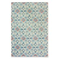 Oriental Weavers Barbados Geometric 7'6 Indoor/Outdoor Runner in Blue