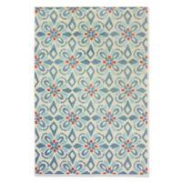 Oriental Weavers Barbados Geometric 9'10 x 12'10' Indoor/Outdoor Area Rug in Blue