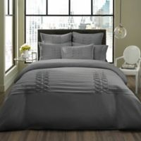 City Scene Triple Diamond Twin Duvet Cover Set in Grey