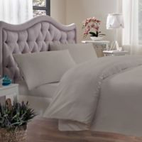 Brielle 400-Thread-Count King Duvet Cover in Linen
