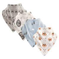 Hudson Baby® 4-Pack Wild/Free Cotton Bandana Bibs in Light Blue