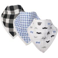Hudson Baby® 3-Pack Gentleman Muslin Bandana Bibs