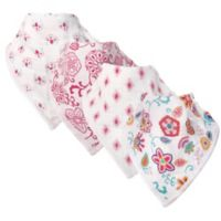 Hudson Baby® 4-Pack Floral Muslin Bandana Bibs