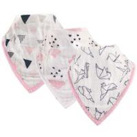 Hudson Baby® 3-Pack Paper Birds Muslin Bandana Bibs