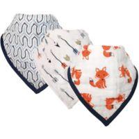 Hudson Baby® 3-Pack Foxes Muslin Bandana Bibs