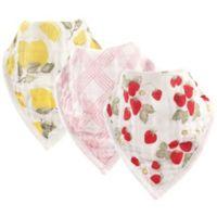Hudson Baby® 3-Pack Fruit Muslin Bandana Bibs