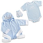 Baby Aspen Size 0-9M 3-Piece Prince Bundle Bathrobe, Bodysuit and Sock Set in Blue