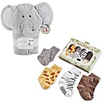 Baby Aspen Safari Hooded Towel and Sock Set