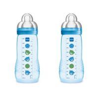 MAM 2-Pack 11 oz. Easy Active Bottle in Blue
