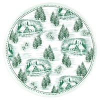 Q Squared Melamine Yuletide Serving Platter in Green/White