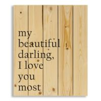 "Designs Direct ""Beautiful Darling"" 18-Inch x 22-Inch Pallet Wood Wall Art"