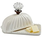 Mud Pie® 2-Piece Door Knob Butter Dish and Lid Set in White