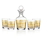 Style Setter Aztec 5-Piece Decanter Set in Gold