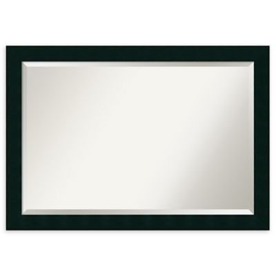 Amanti Art Tribeca 24 Inch X 36 Inch Rectangular Bathroom Mirror In Black