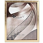 Lawrence Frames 8-Inch x 10-Inch Chloe Contemporary Picture Frame in Brushed Satin Gold