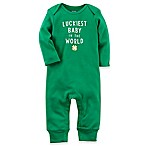 carter's® Size 6M  Luckiest Baby in the World  Coverall in Green