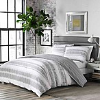 City Scene Ziggy Reversible King Duvet Cover Set in White