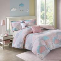 Urban Habitat Kids Cloud 4-Piece Twin/Twin XL Duvet Cover Set in Pink