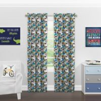 SolarShield® Kids Pirate Party 84-Inch Rod Pocket Blackout Window Curtain Panel in Grey