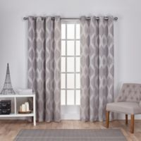 Exclusive Home Montrose 96-Inch Grommet Window Curtain Panel Pair in Ash Grey
