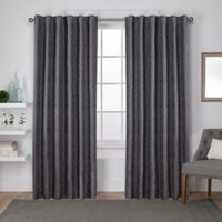Exclusive Home Zeus 96-Inch Rod Pocket Window Curtain Panel Pair in Black