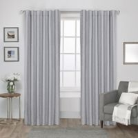 Exclusive Home Zeus 108-Inch Rod Pocket Window Curtain Panel Pair in Light Grey