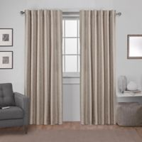 Exclusive Home Zeus 84-Inch Rod Pocket Window Curtain Panel Pair in Natural