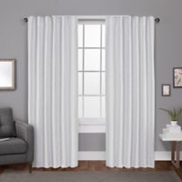 Exclusive Home Zeus 84-Inch Rod Pocket Window Curtain Panel Pair in White
