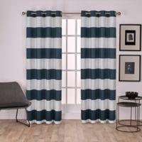 Surfside 108-Inch Grommet Top Window Curtain Panel Pair in Indigo