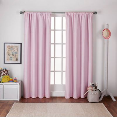 Polka Dot 108 Inch Rod Pocket Room Darkening Window Curtain Panel Pair In  Pink