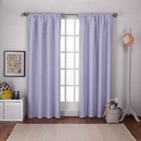 Polka Dot 108-Inch Rod Pocket Room Darkening Window Curtain Panel Pair in Lilac
