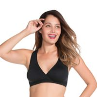 Charley M Serenity Size Medium/X-Large Molded Seamless Bra in Black