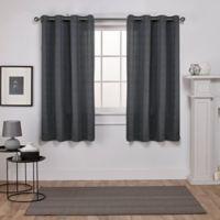 Exclusive Home Virenze 63-Inch Grommet Window Curtain Panel Pair in Black