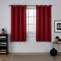 Exclusive Home Virenze 63-Inch Grommet Window Curtain Panel Pair in Chili