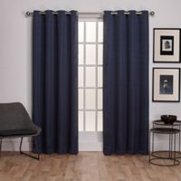 Exclusive Home Virenze 108-Inch Grommet Window Curtain Panel Pair in Blue