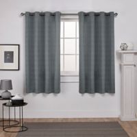 Exclusive Home Virenze 63-Inch Grommet Window Curtain Panel Pair in Silver Cloud