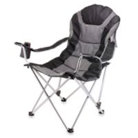 Picnic Time® Reclining Camping Chair in Black
