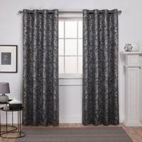 Watford 96-Inch Grommet Top Room Darkening Window Curtain Panel Pair in Black/Silver