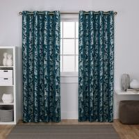 Watford 108-Inch Grommet Top Room Darkening Window Curtain Panel Pair in Blue/Silver